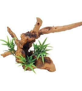 RS Driftwood with Plant 20 x 9 x 14cm FP61252